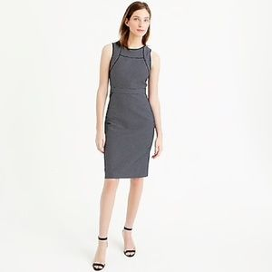 J. Crew Tipped Sheath Dress In Dotted Jacquard